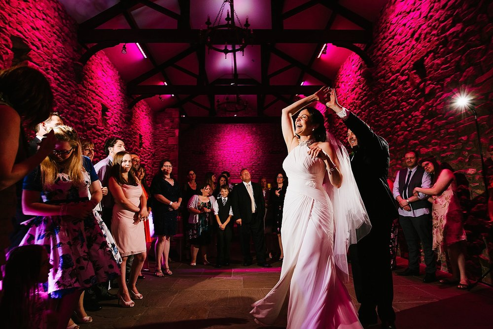 first dance at the tithebarn at browsholme hall