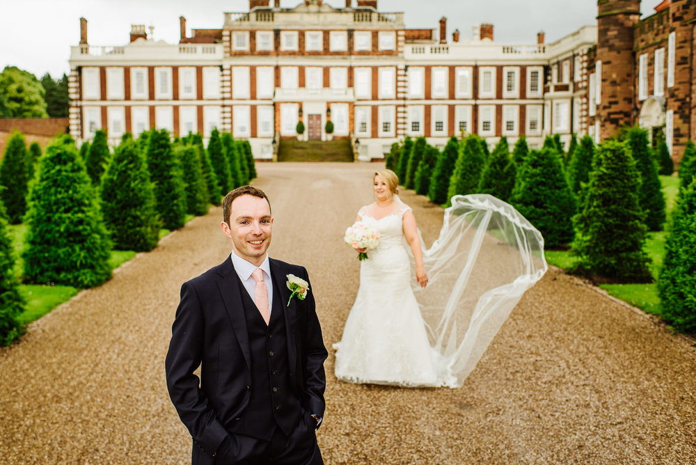 wedding photograph at Knowsley Hall
