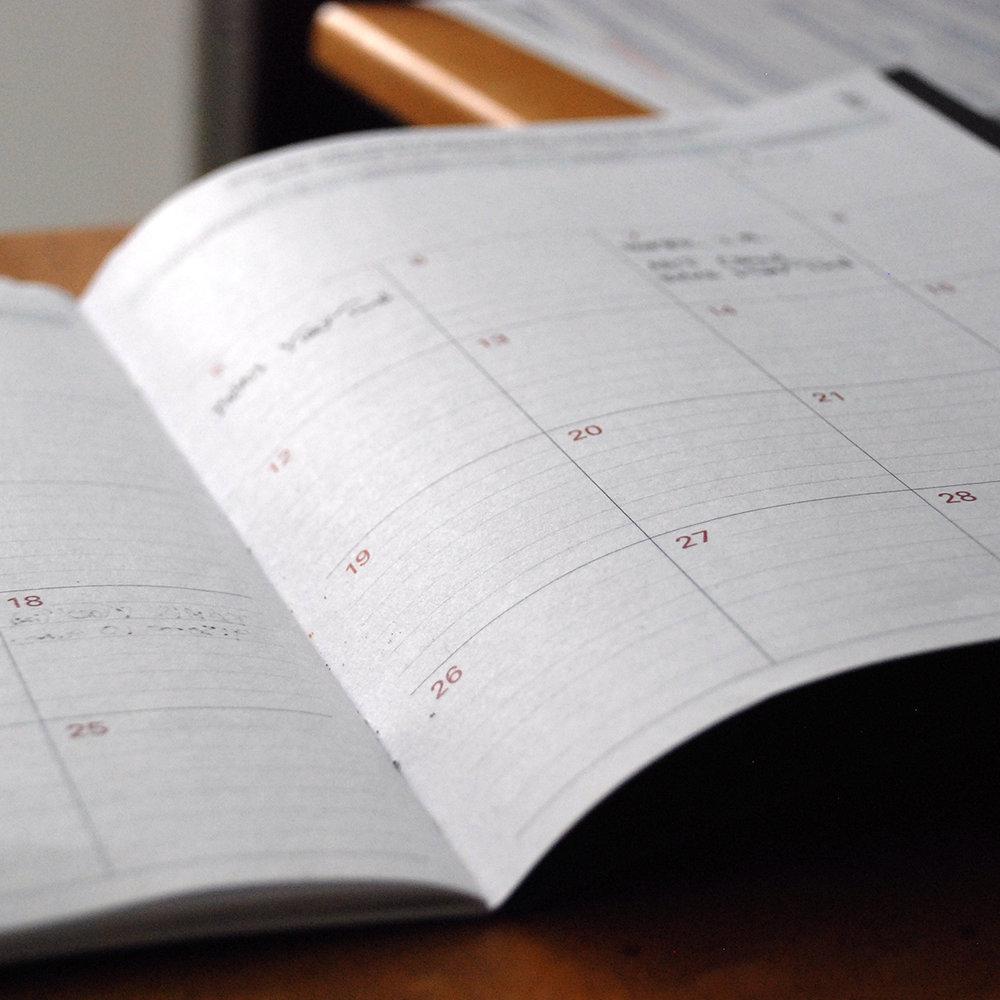 Rec Center Calendar -