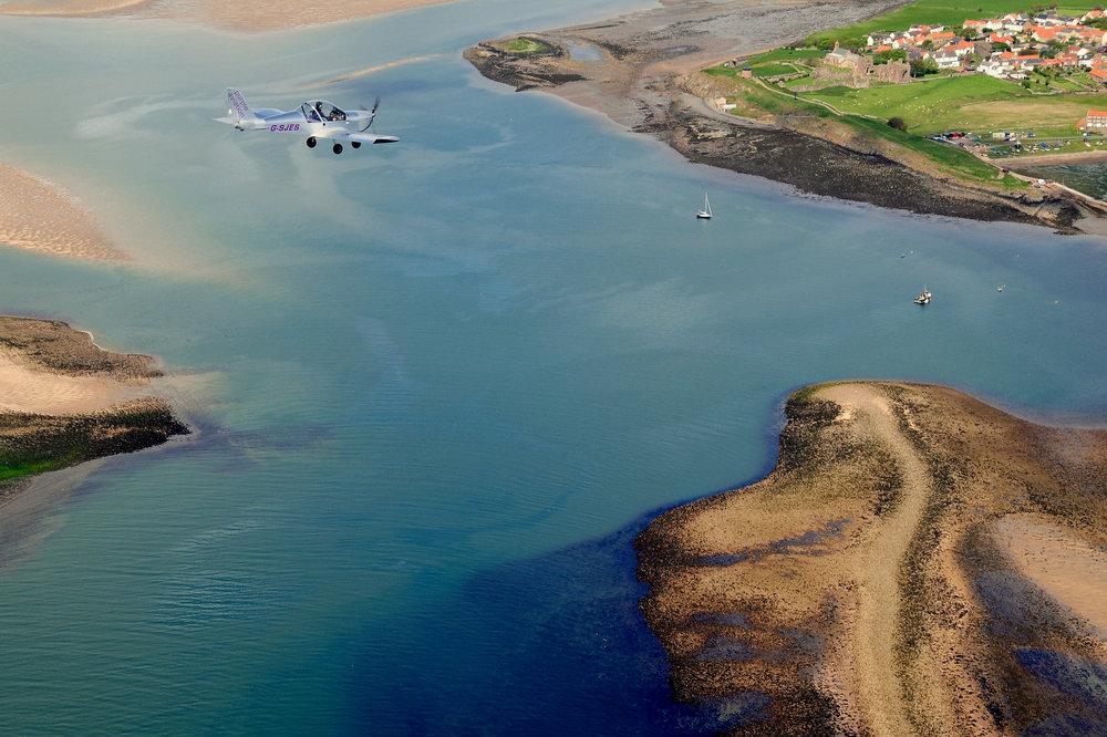 G-SJES over Holy Island 2.JPG