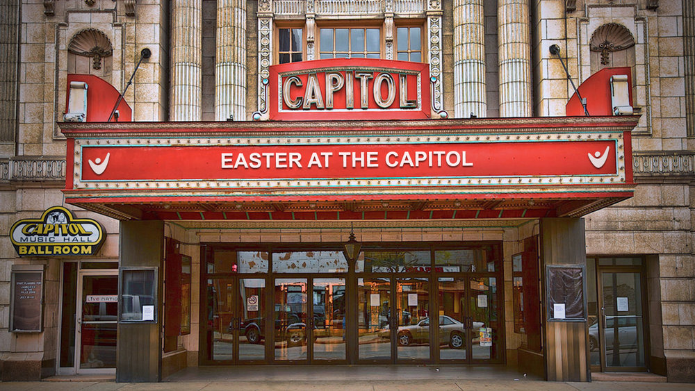 Easter at the Capitol Theatre - On Easter Sunday, bring your family and friends to the Capitol Theatre in downtown Wheeling to celebrate the hope we find in Jesus Christ. Admission and parking* are free, come as you are and invite a friend or two.Sunday, April 1, 2018Service starts at 10:00am