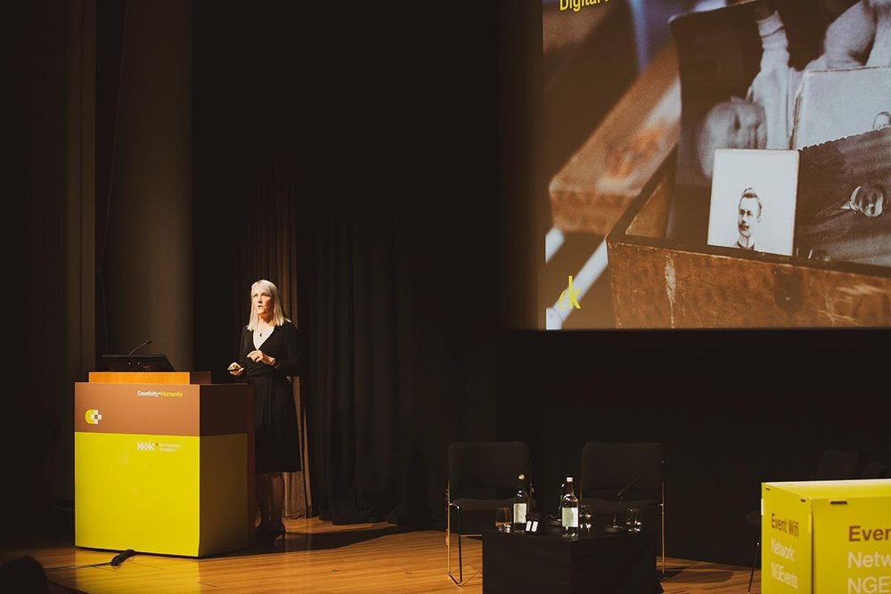 On stage at the National Gallery's Sainsbury Wing