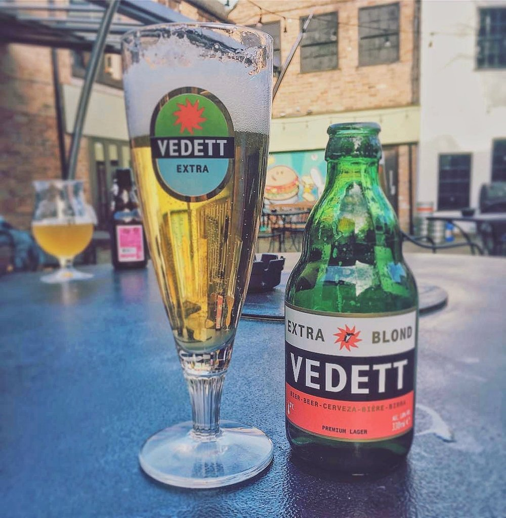 Vedett Beers in the Sun at The Forge Derby