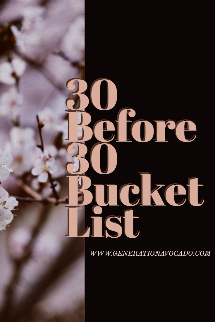 30 before 30 Bucket List: My Alternative New Year's Resolution