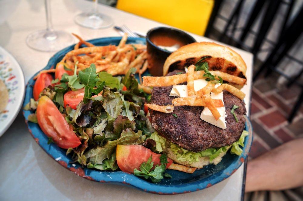 Lamb Burger at El del Frente Restaurant, Havana, Cuba