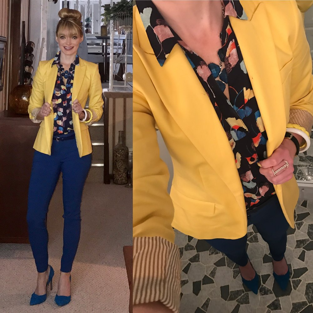 April 2017:   This outfit was per usual an outfit remix with a final sale The Limited item, clearance DSW heels, and a consignment Vince Camuto blazer!