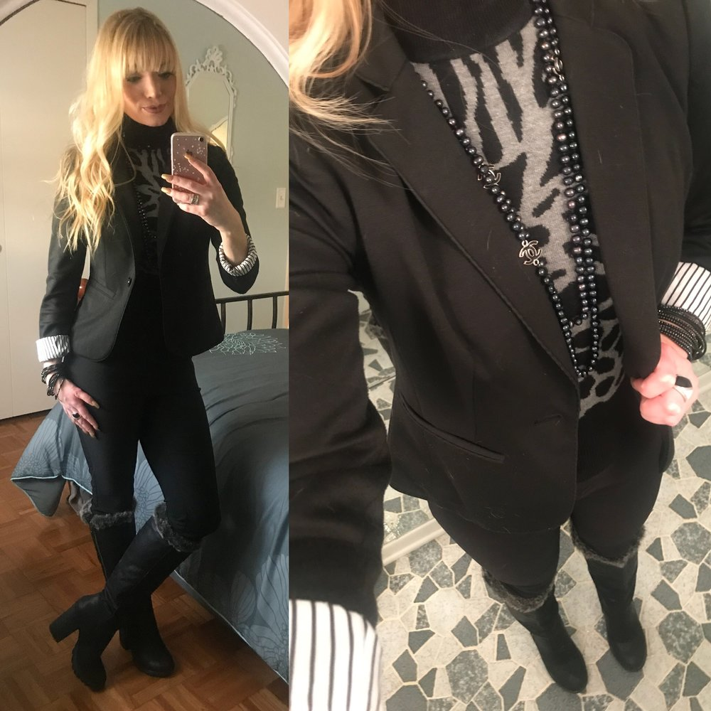 It's always difficult to find warm winter clothing that is work appropriate and cute. It was 0 degrees today, and I think I accomplished all of the above! See links below for details!