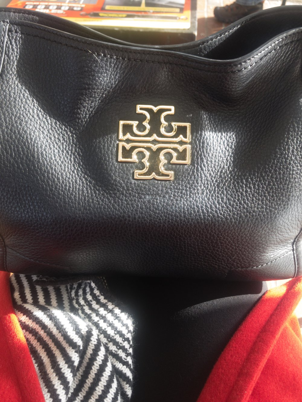 The Tory Burch bag completes the look!