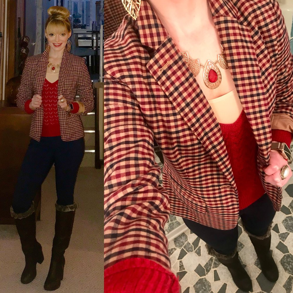 Loving this preppy, business casual look--I  felt so put together!