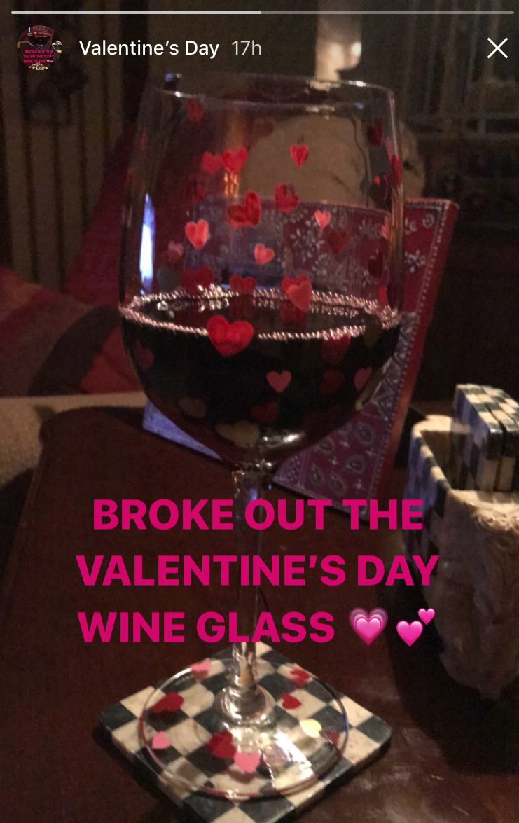 I     bought this Valentine's Day wine glass last year and decided to see what Pier 1 had available this year, and they are featuring these again!