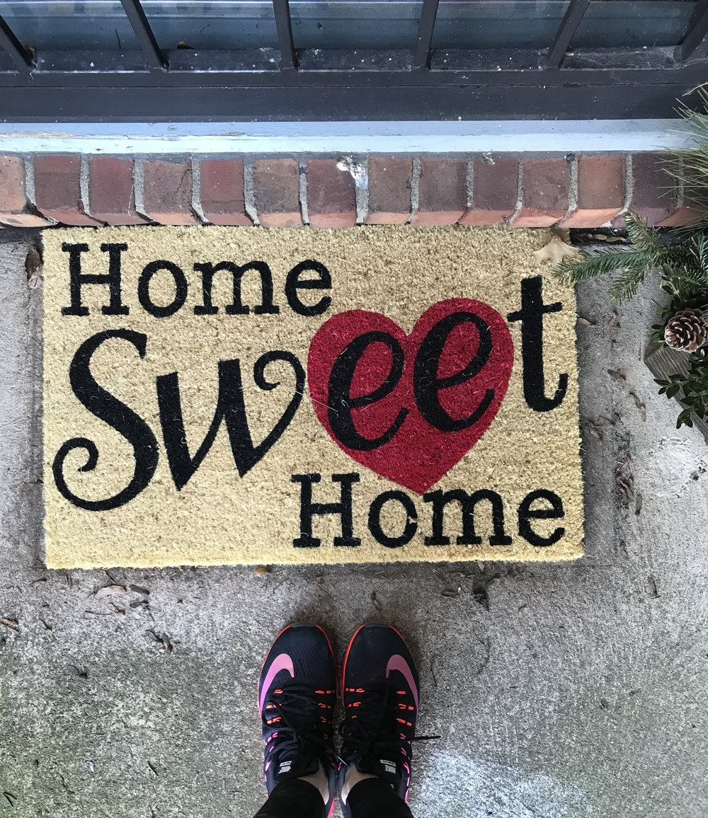 Was finally able to replace my Christmas doormat with this cute one from Old Time Pottery.  I    love the deals and cute items at Old Time Pottery, but they don't sell online.  If you have one, be sure to check out all their home items.  I have a few similar ones linked below.