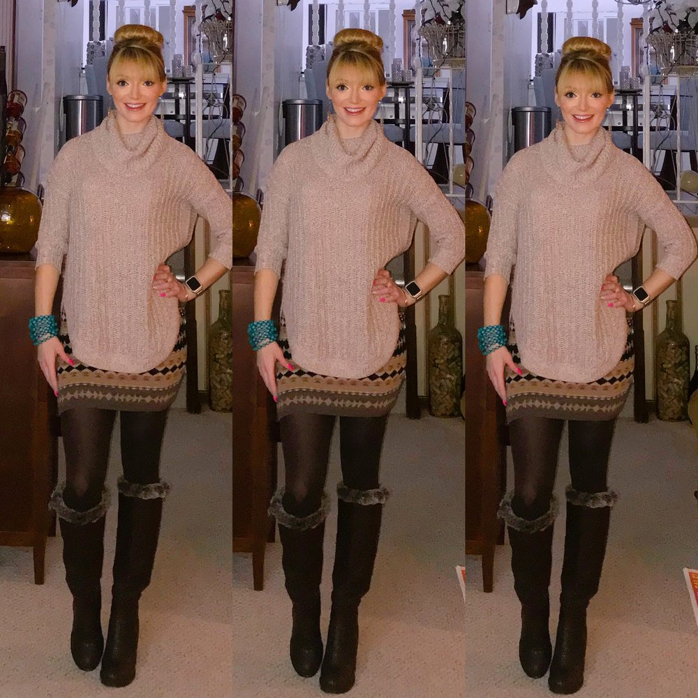 """I  call this super popular sweater the """"blogger sweater,"""" as I  feel every blogger had it this fall and winter. As a result, this Express sweater is sold out! But they still have some cowl necks available on super sale! Other similar super cute items are linked too ;)"""
