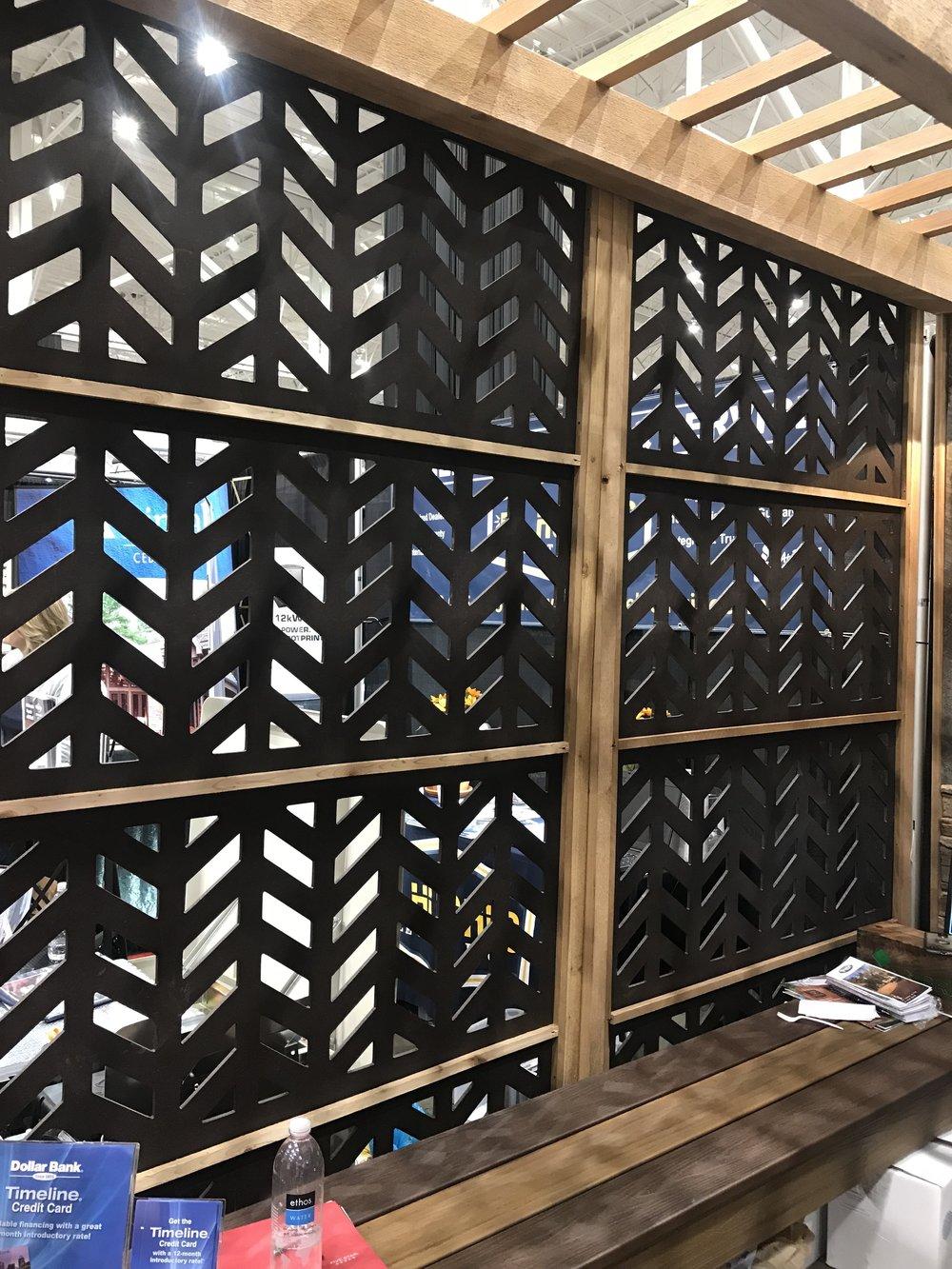 Unique lattice for pergolas