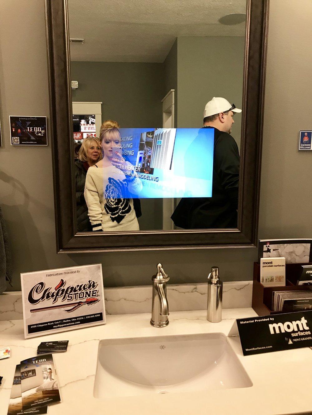 TV/Computer Screen in your Bathroom Mirror