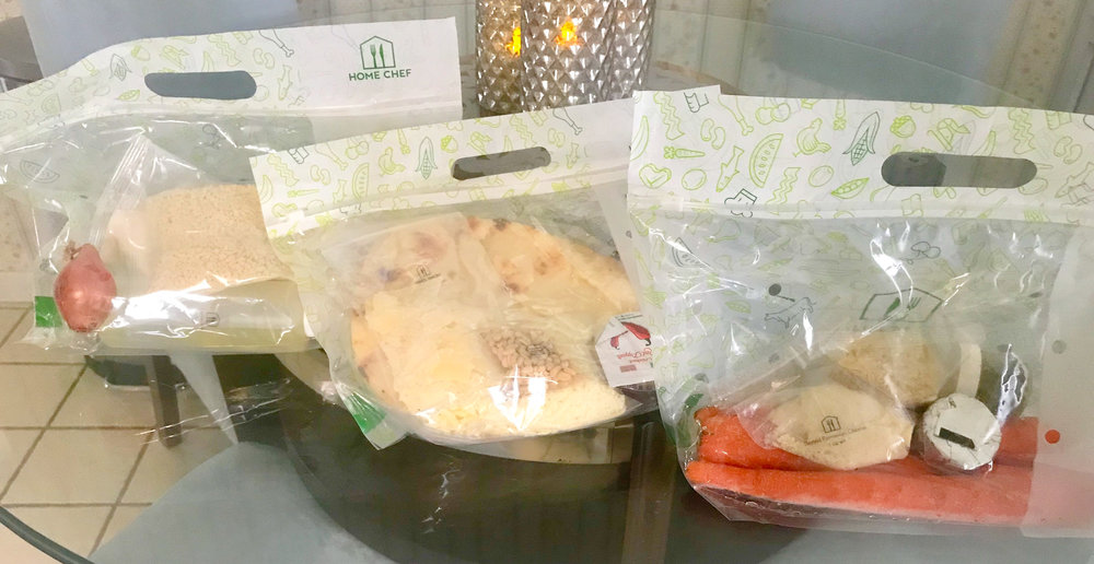 Each meal packaged separately in a Ziplock sealed bag