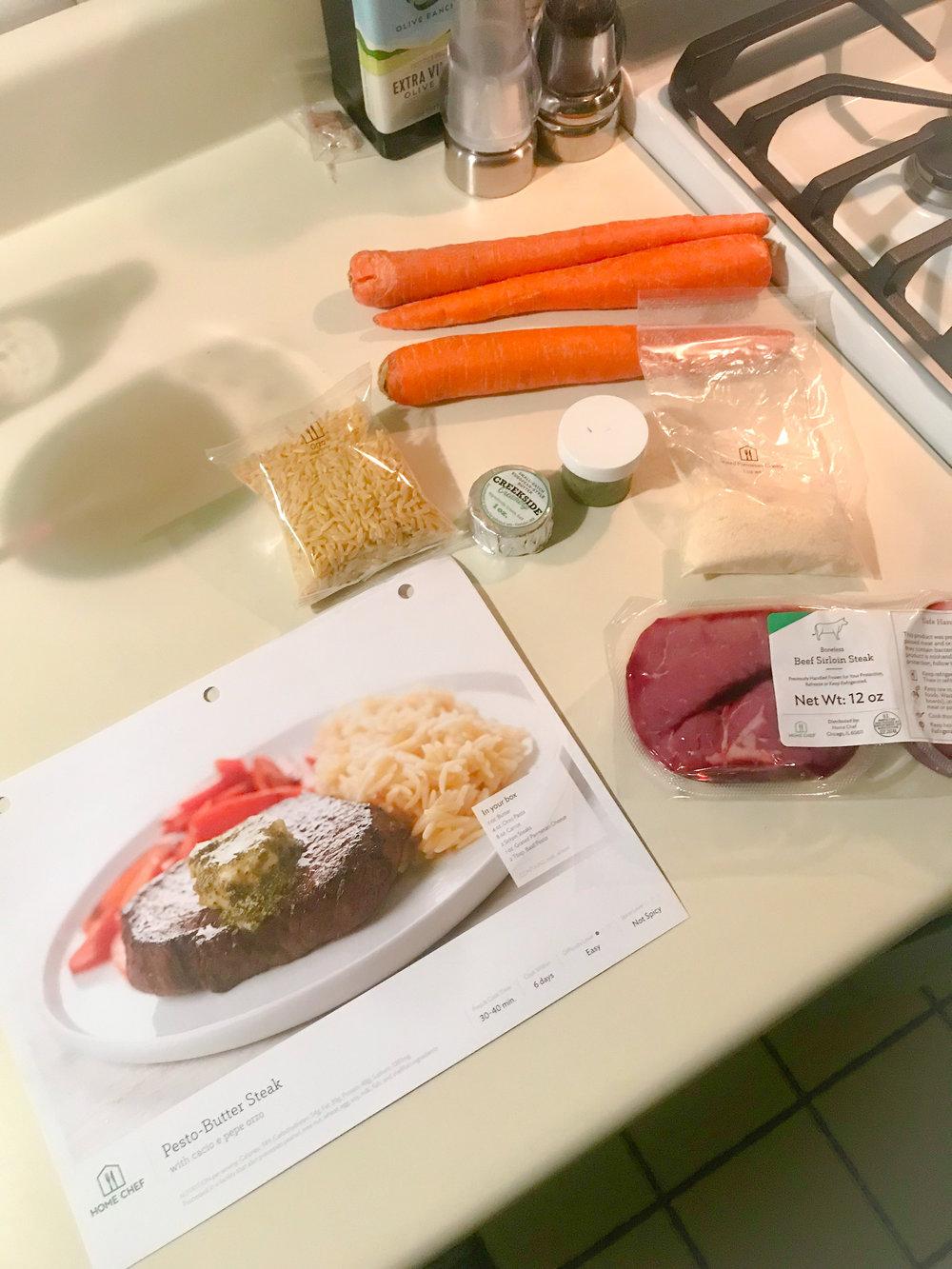 Prep for Steak Dinner