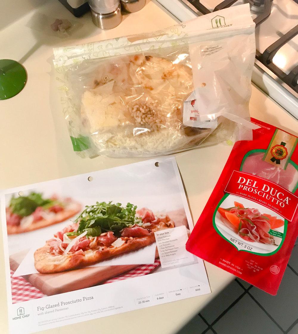 Prep for Fig-Glazed Prosciutto Pizza