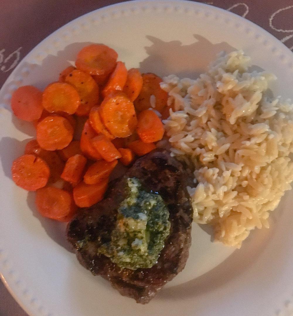 Pesto Butter Steak
