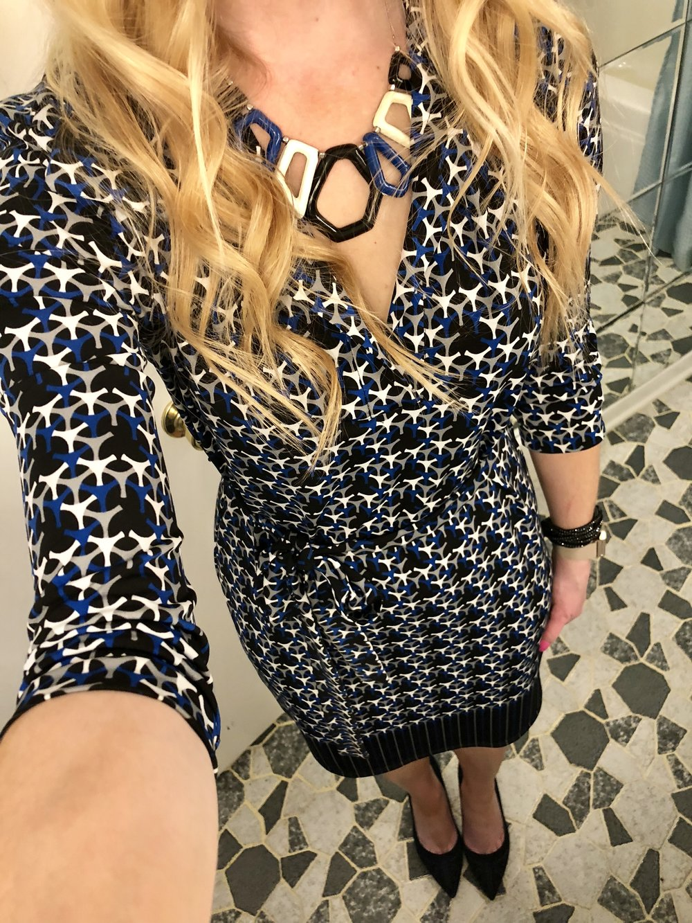 Loving this wrap dress from Nordstrom Rack that has been in my closet for several years. I continue to keep it because of its classic silhouette and how confident it makes me feel for work!