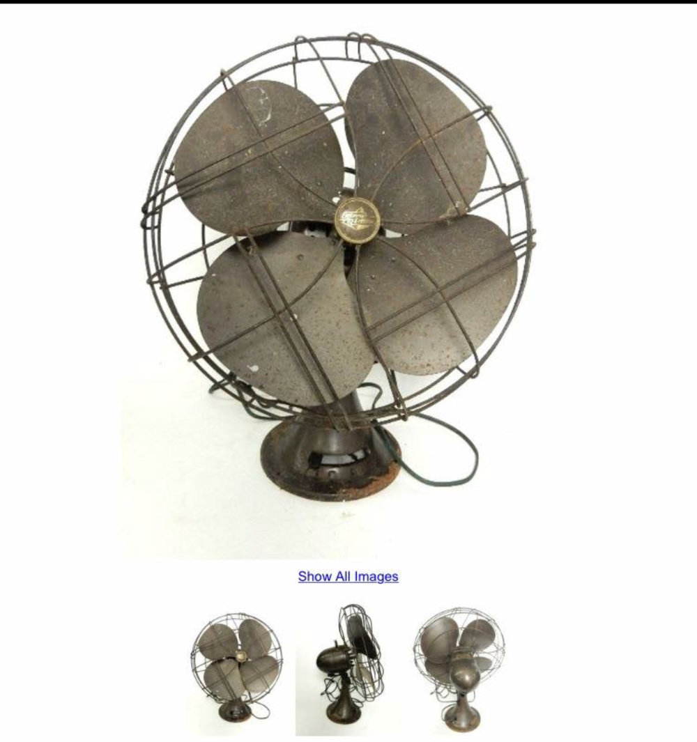 Original auction posting of the fan