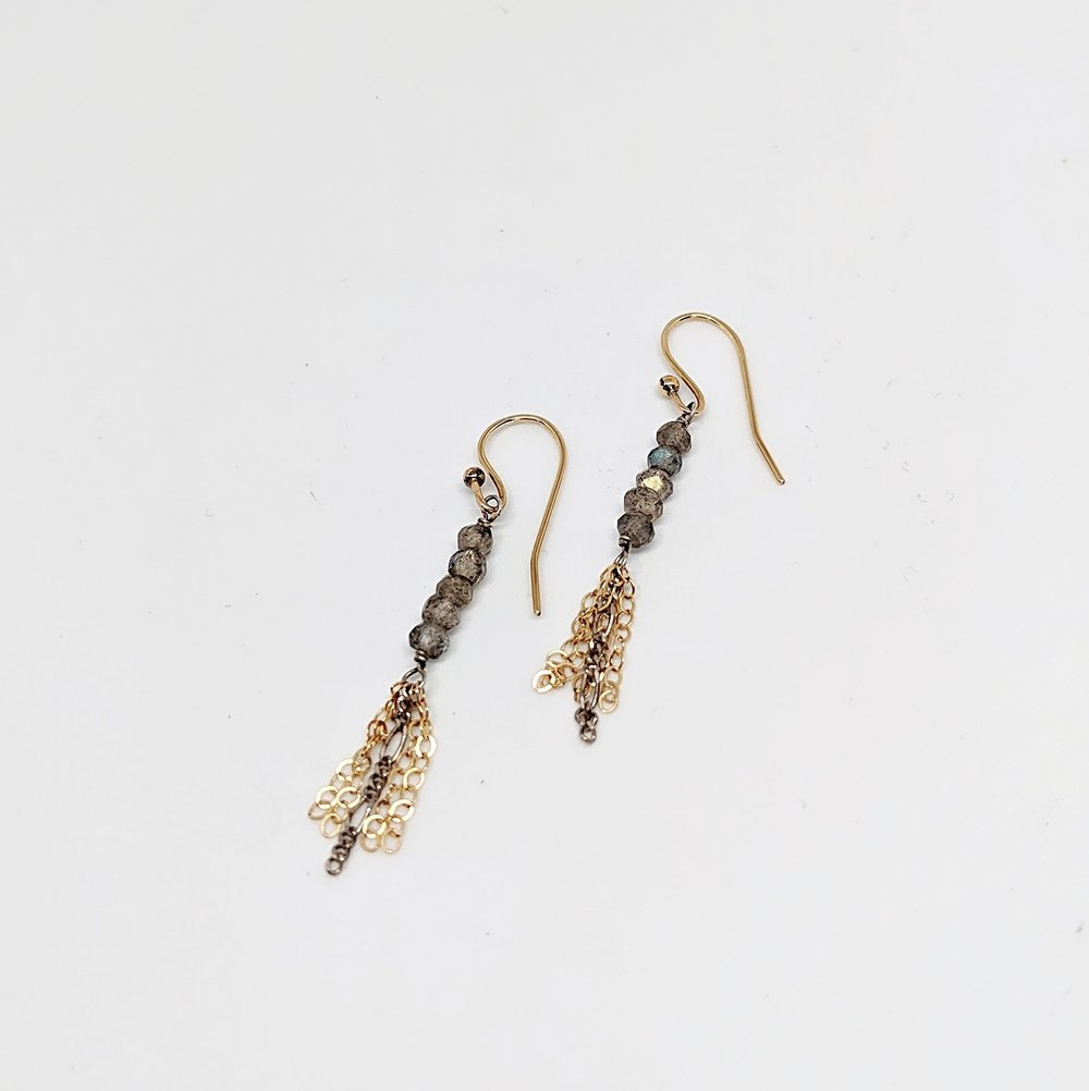 Fabulous Gold Toned Fringe Earrings