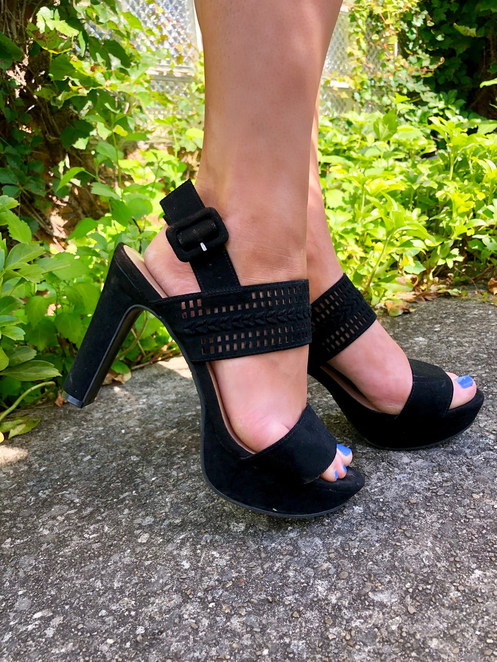 Been putting these super cute block heels on repeat this summer. The plus is that these are on sale for $24.99!