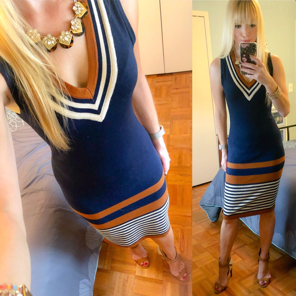 Loving how this cute summer sweater dress is perfect for the office! I love Venus dresses and shoes--they definitely have some of the cutest things!