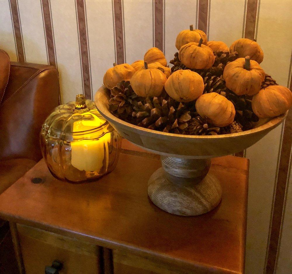 Estate Sale Pumpkin with fun pumpkin filler