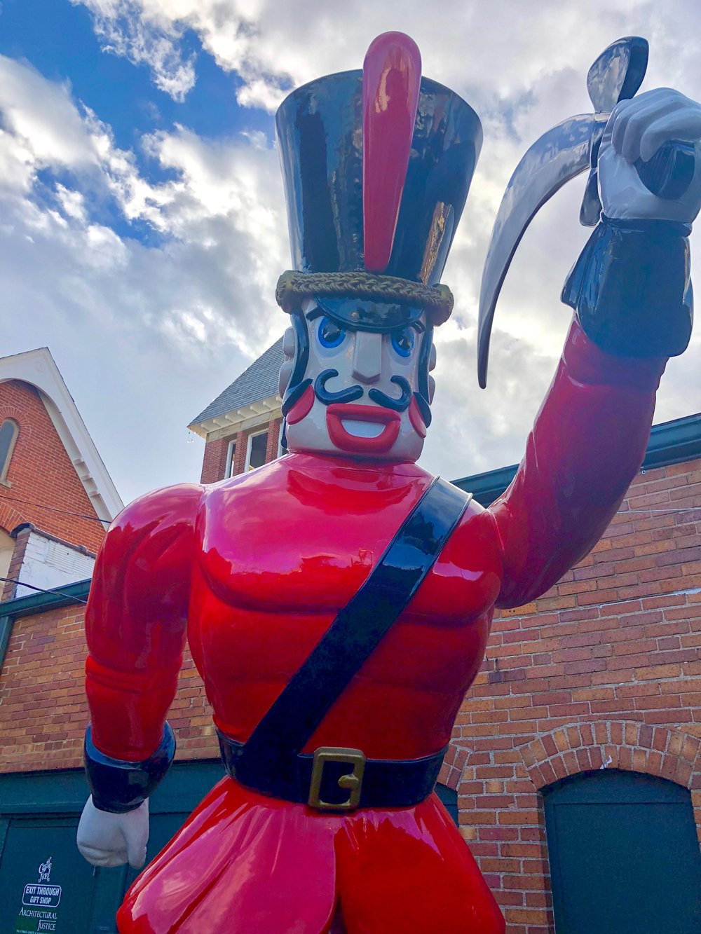 HUGE Nutcracker that was in the Cleveland Playhouse District.