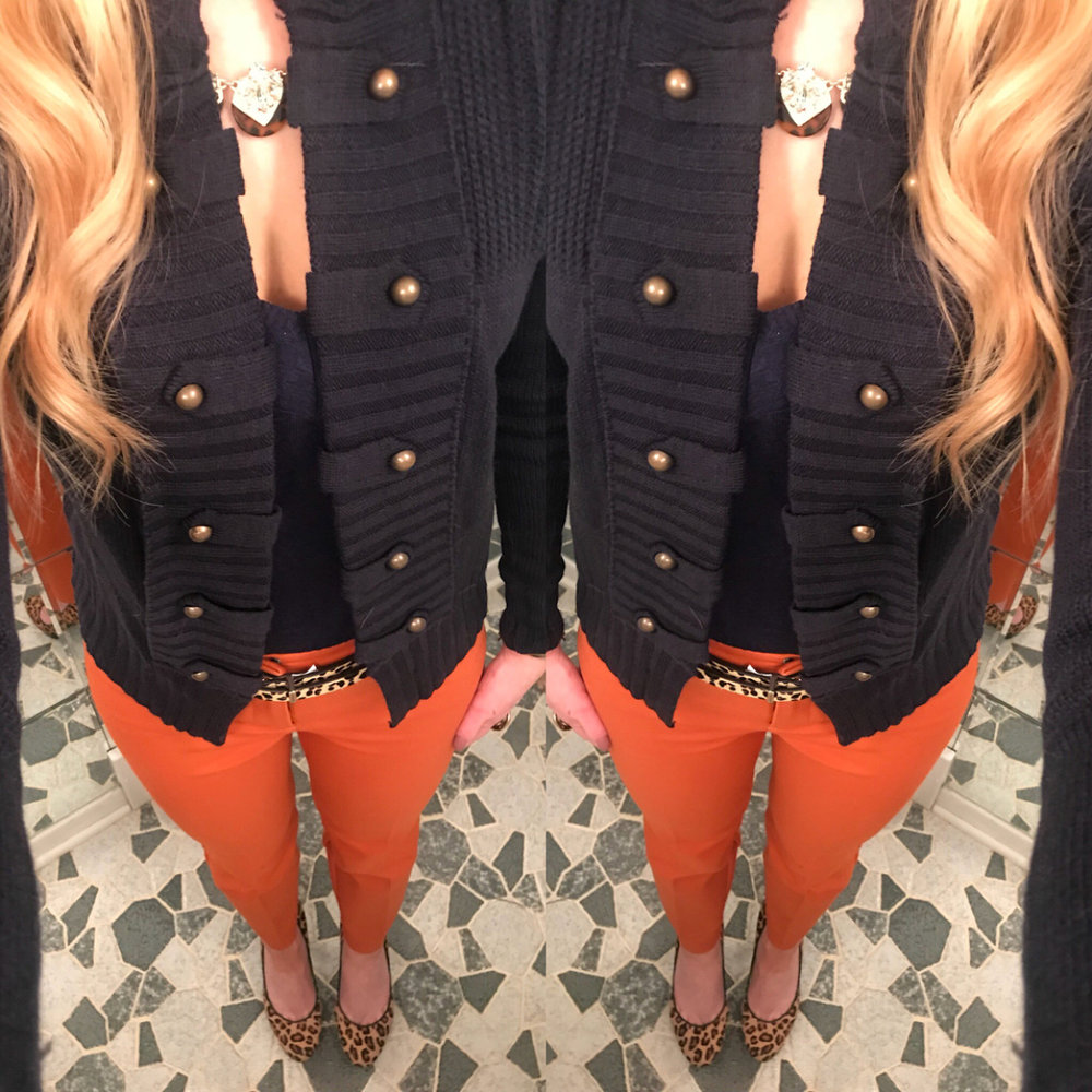 Blue and Orange Color combo
