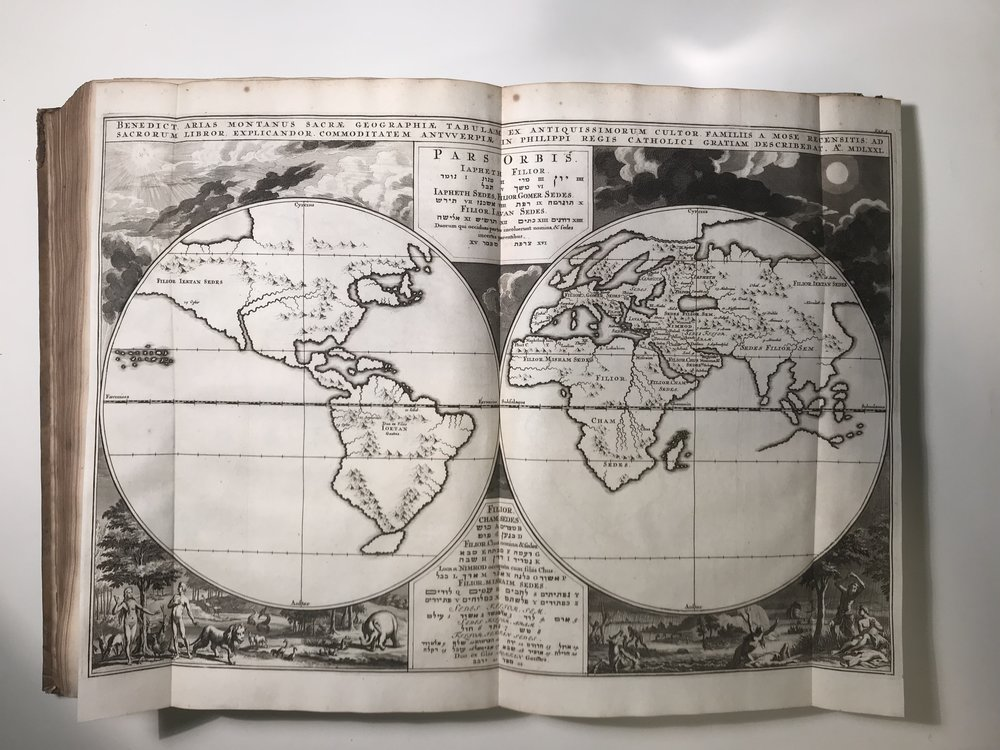 17th Century World Map showing North Coast of Australia