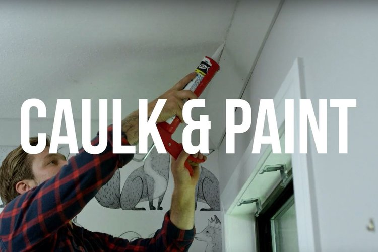 STEP 5 - CAULK & PAINT || Caulk all seams and nail holes with a paintable caulk. Follow manufacturer's instructions on the tube. Once the caulk has set, touch up with paint. TIP: Pre-paint moulding before install and then touch up after install.