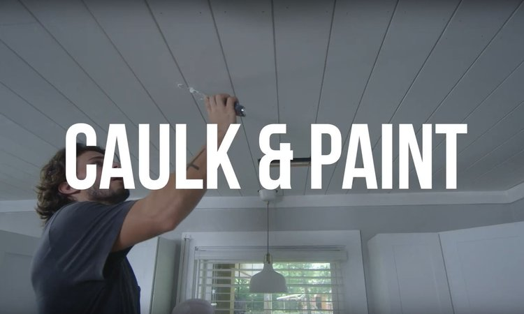 STEP 5 - CAULK & PAINT || Caulk all nail holes with a paintable caulk. Follow manufacturer's instructions on the tube. Once the caulk has set, touch up with paint.