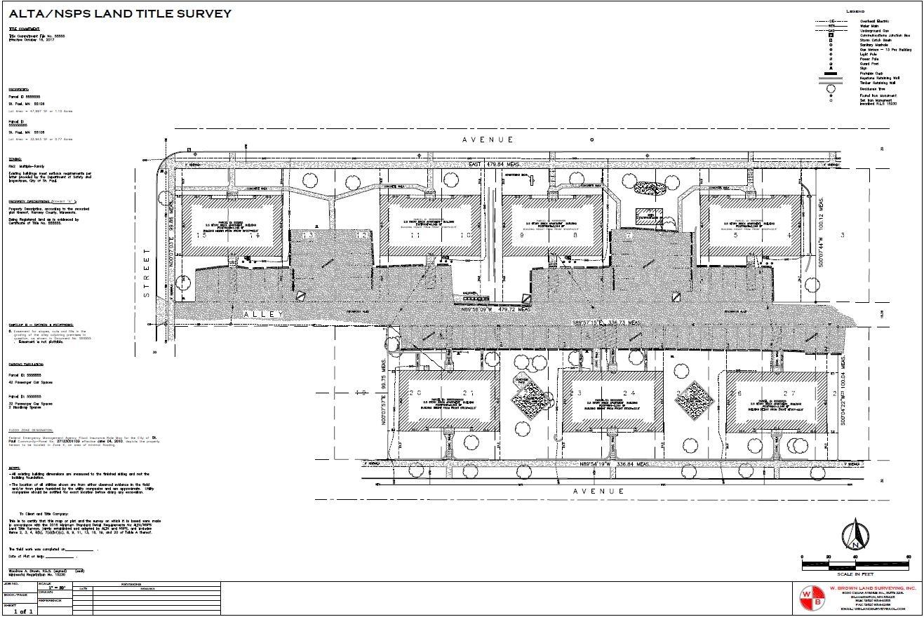 Surveys W Brown Land Surveying Inc Description Schematic Block Diagram Examplejpg Alta Example