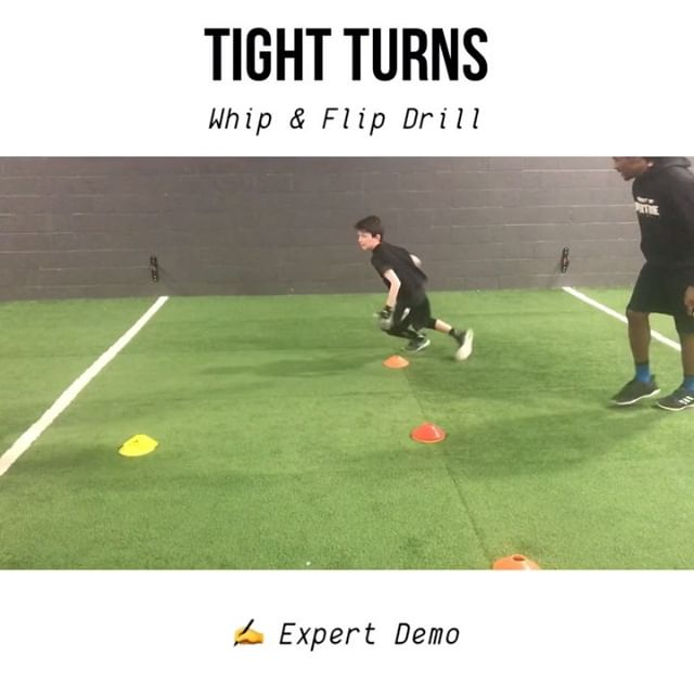 🔥Get IN & Get OUT 👉 SWIPE & LEARN - 🔑 Key Coaching Point Your body will always follow your head. - Whip your head around, and get your shoulders pointing in the direction you want to travel when you come out of your break! - The emphasis here is the TURN! - ⚠️ Tag your workout partner! - . . . . . - #footballpractice #footballworkout #speedandstrength #speedandagility #speedkills #footballdrills #speeddrills #offseasontraining #sportstraining #beansthlete #runningdrills #footballdrills #basketballtraining #soccerdrills #soccertraining #specialteams #agilitydrills #conedrills #movementspecialist
