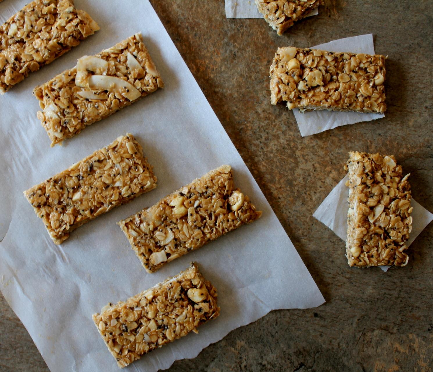 no bake peanut butter granola bar