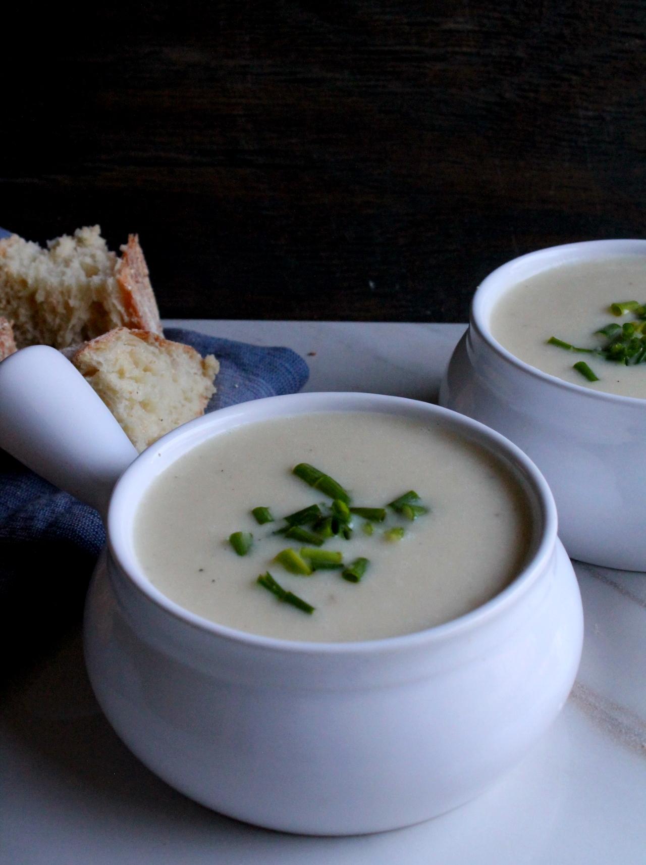 cold potato and leek soup