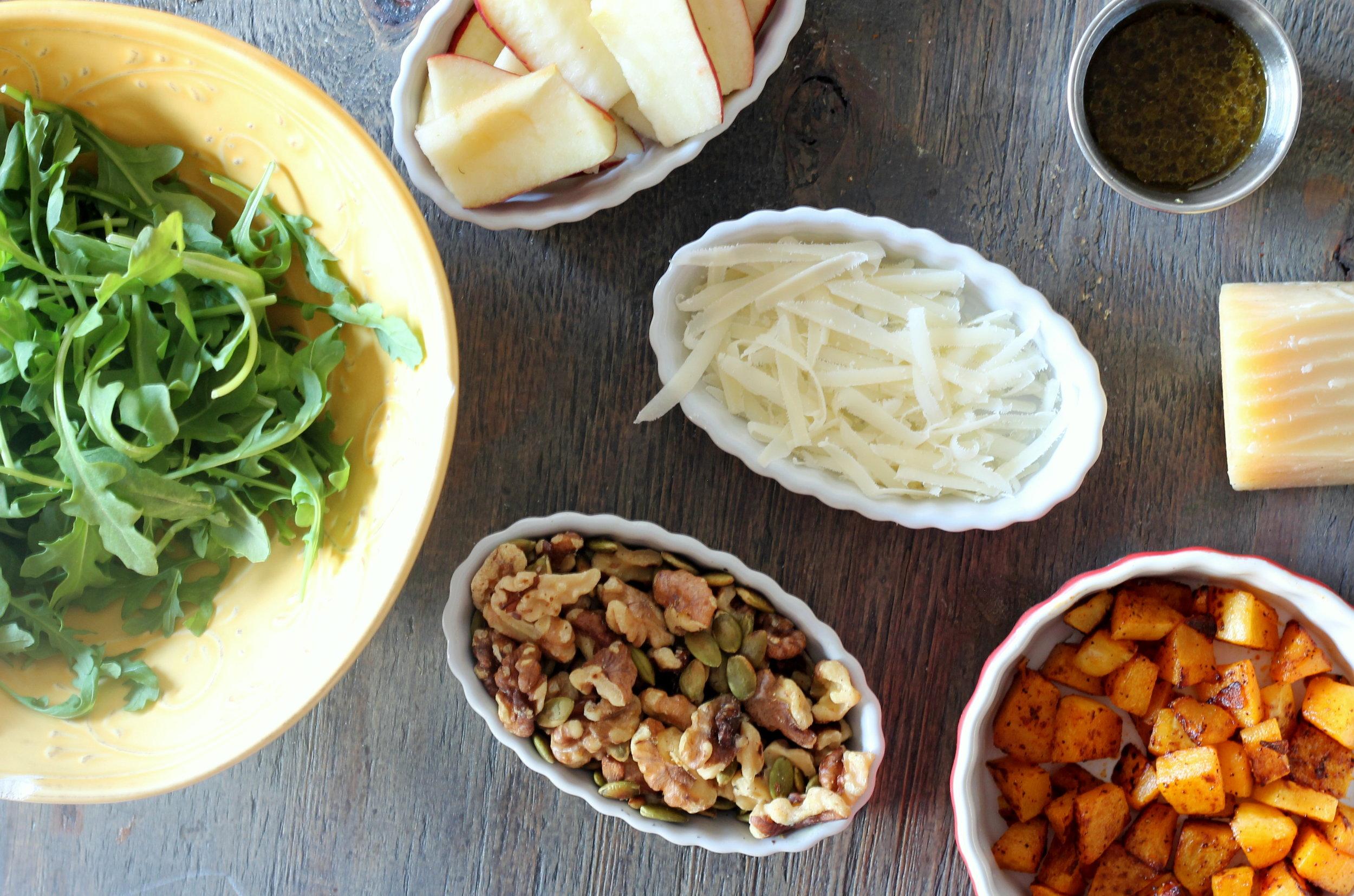 Butternut Squash, Apples, and Walnuts