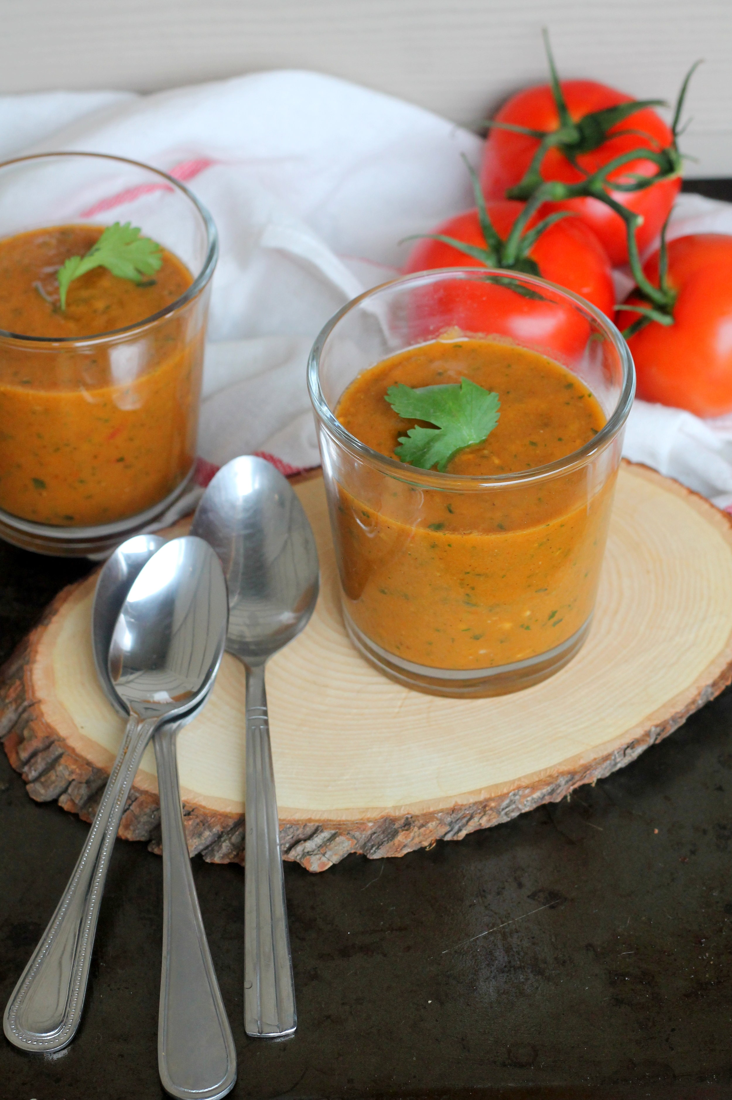 roasted pepper and tomato gazpacho