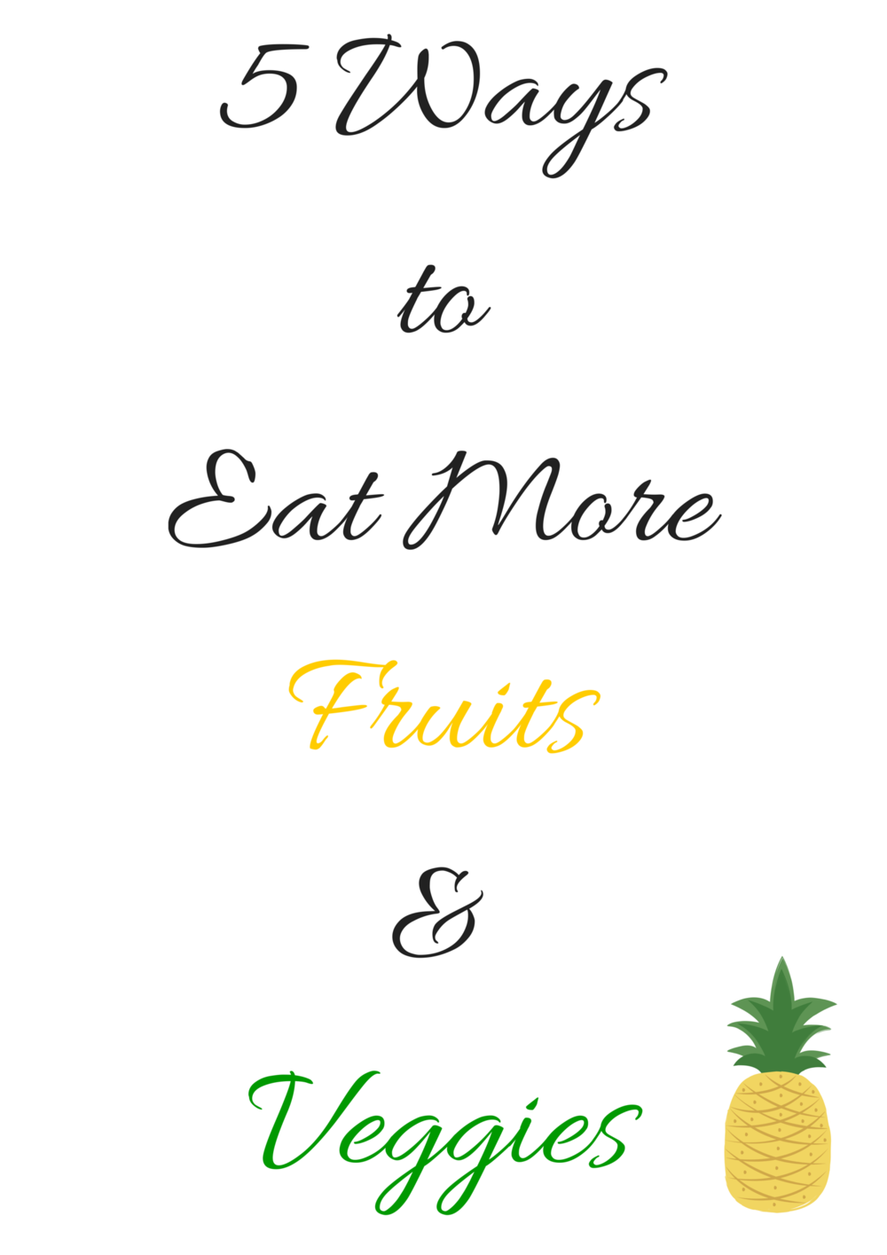 5 Ways to Eat MoreFruits & Veggies