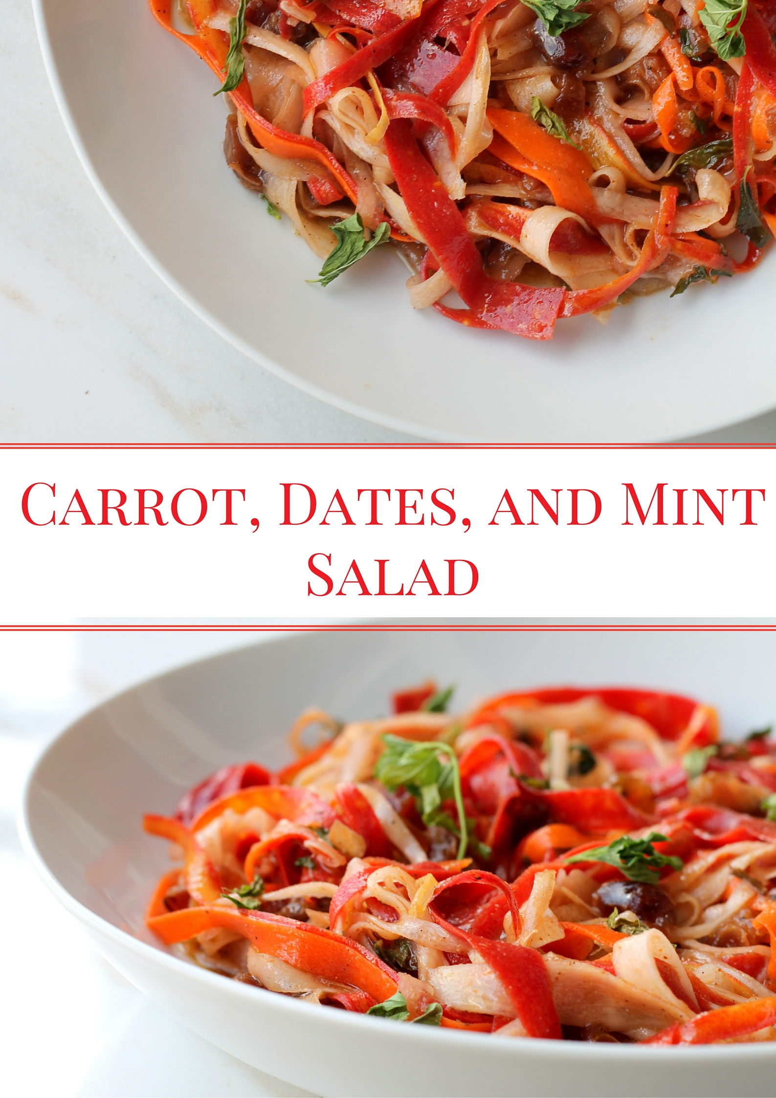 Carrot, Dates, and Mint Salad