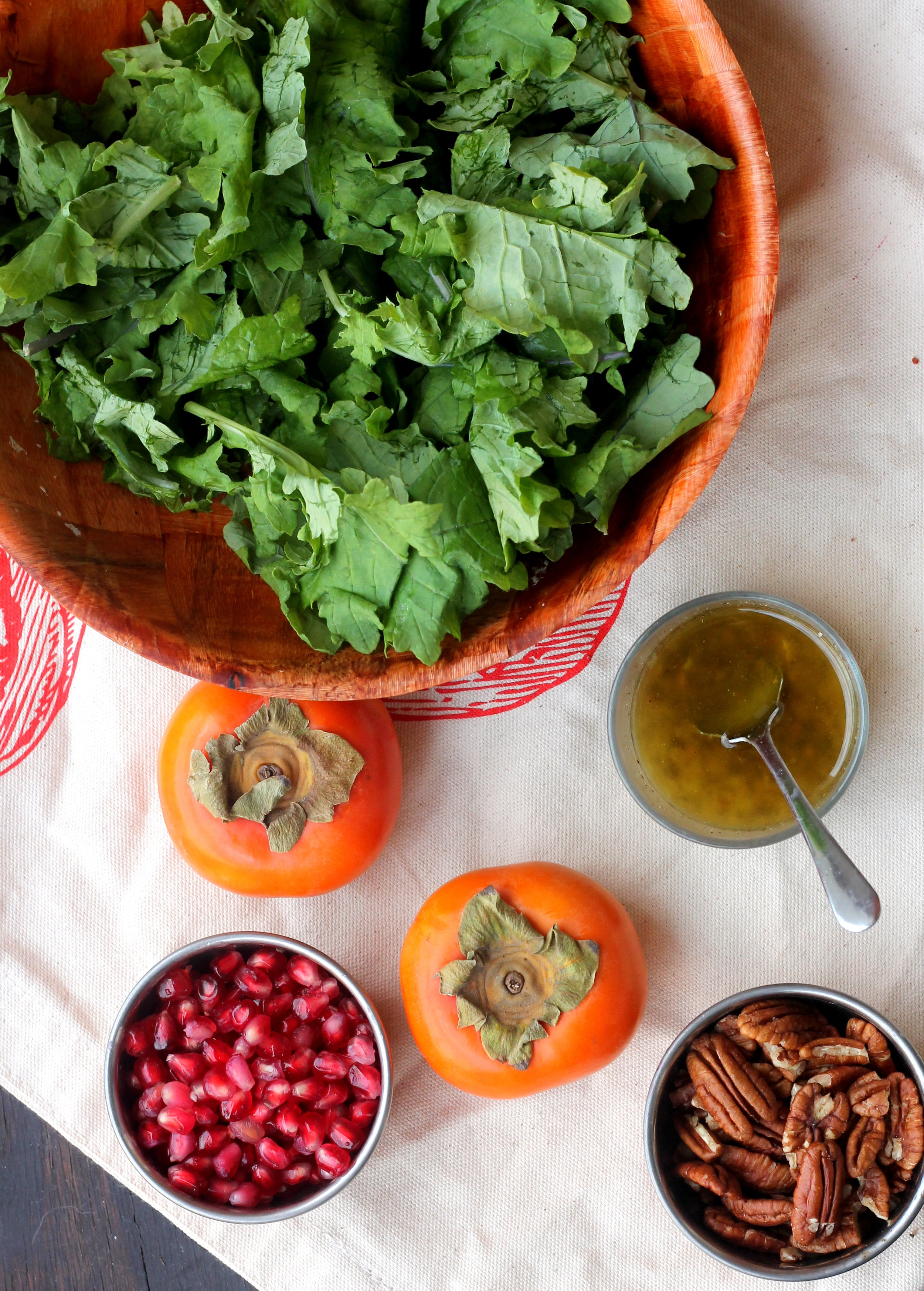 Kale, Persimmon, and Pecan Salad1