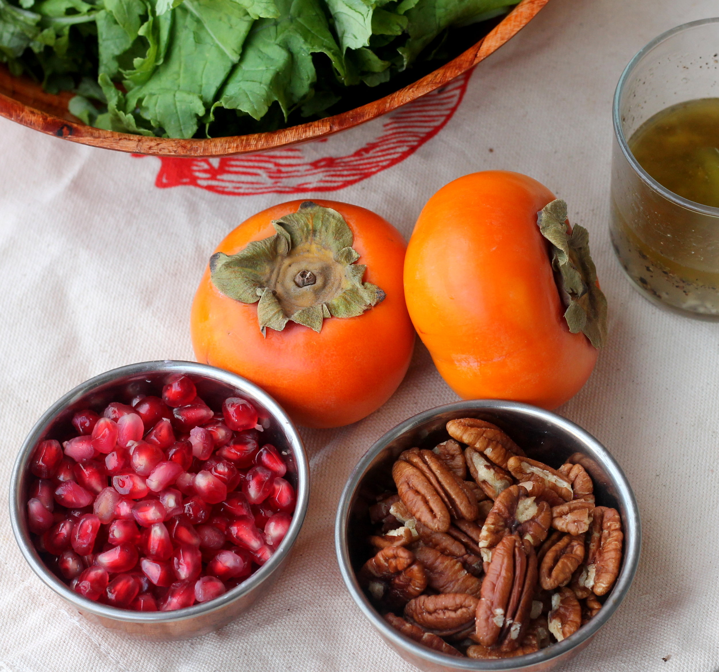 kale, persimmon, and pecan salad4