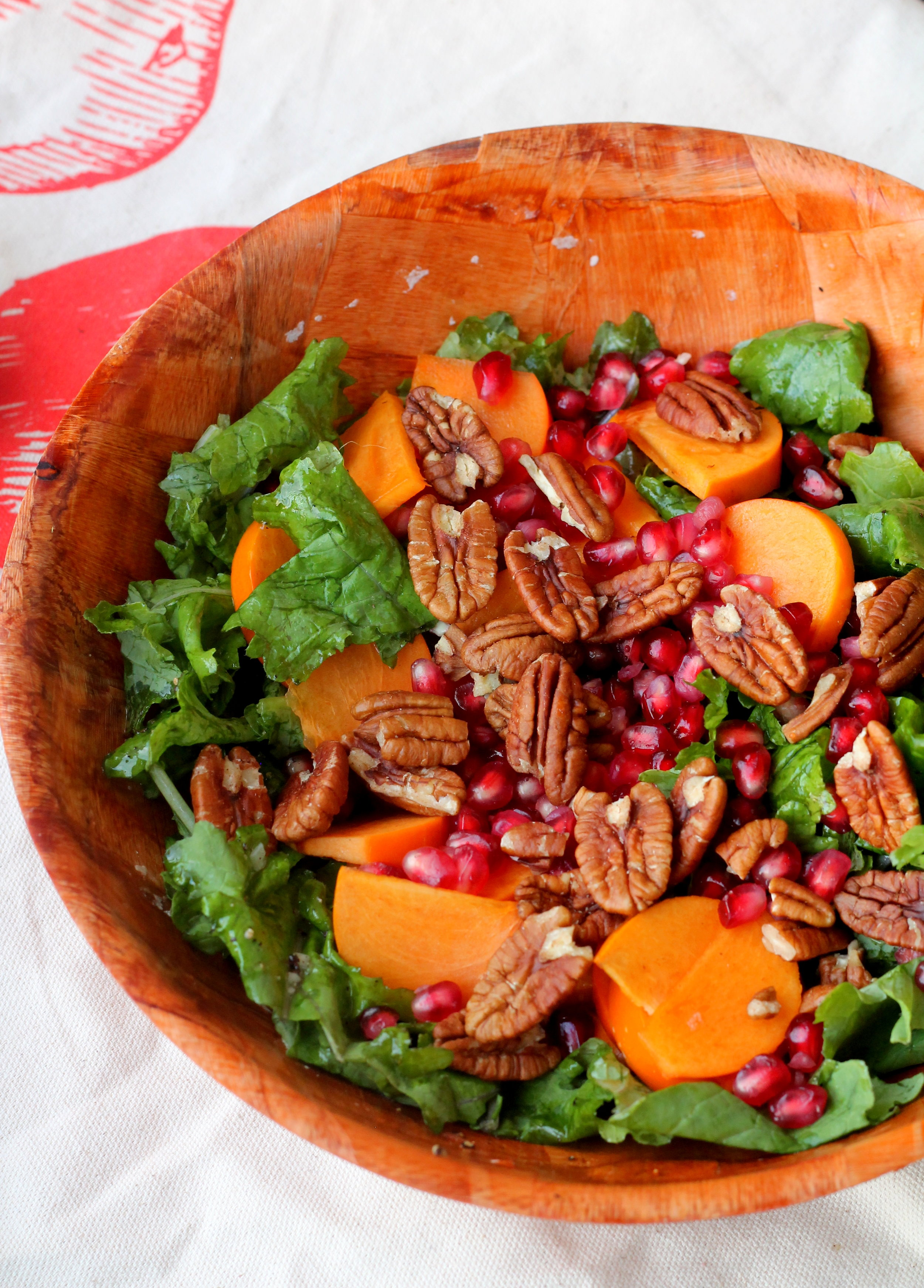 kale, persimmon, and pecan salad5