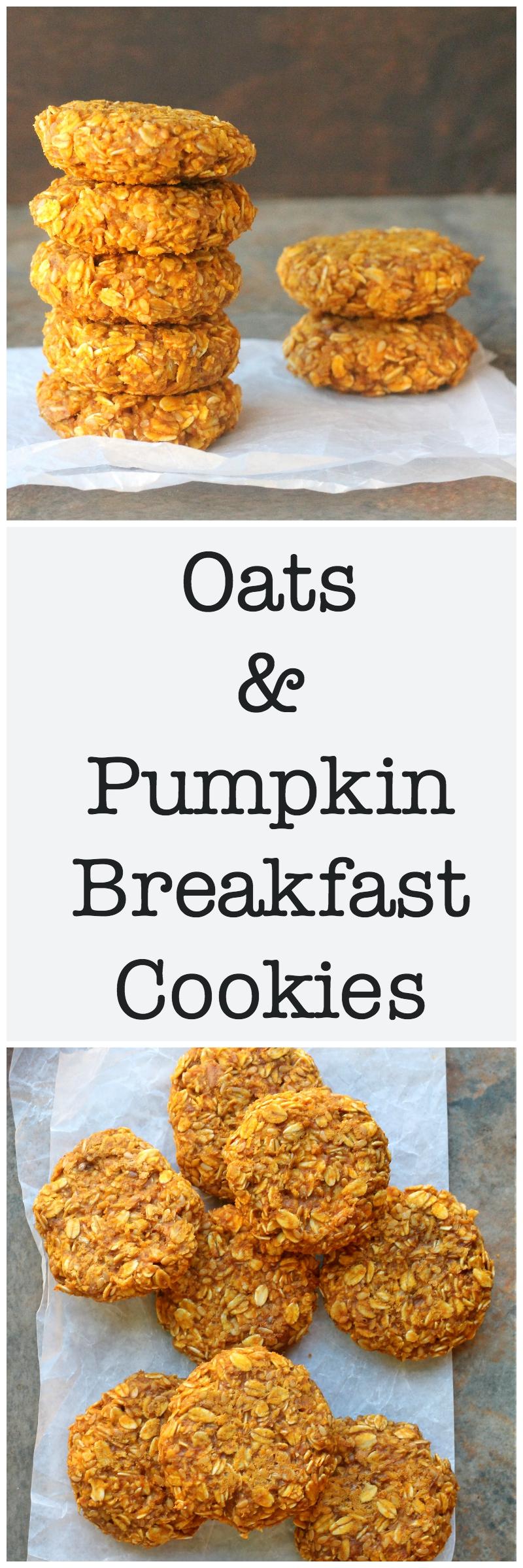 oats and pumpkin breakfast cookies5