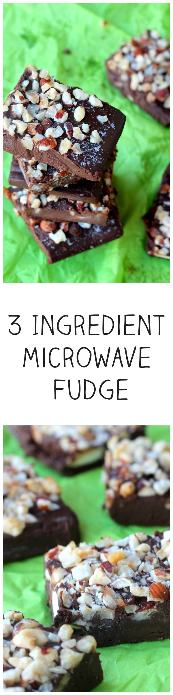 3 Ingredient Microwave Fudge