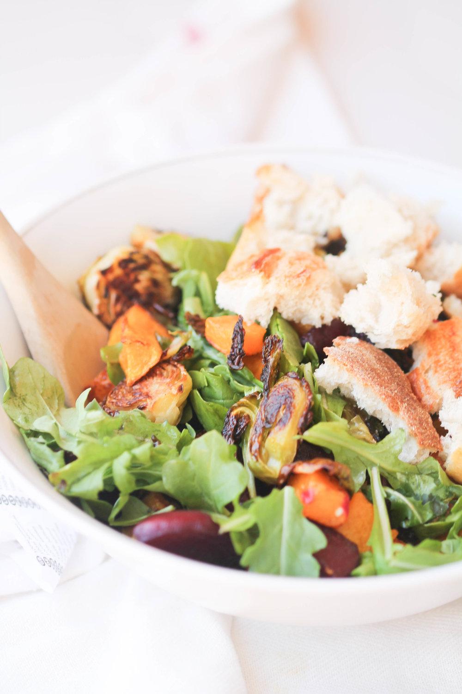 Fall Panzanella Salad