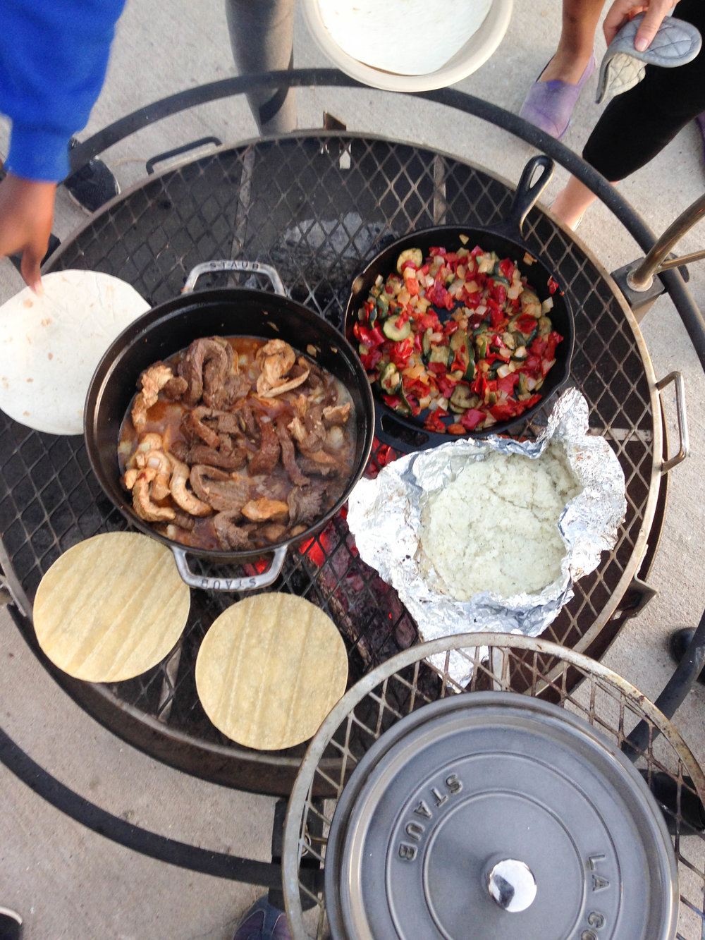 Fajitas for Camping