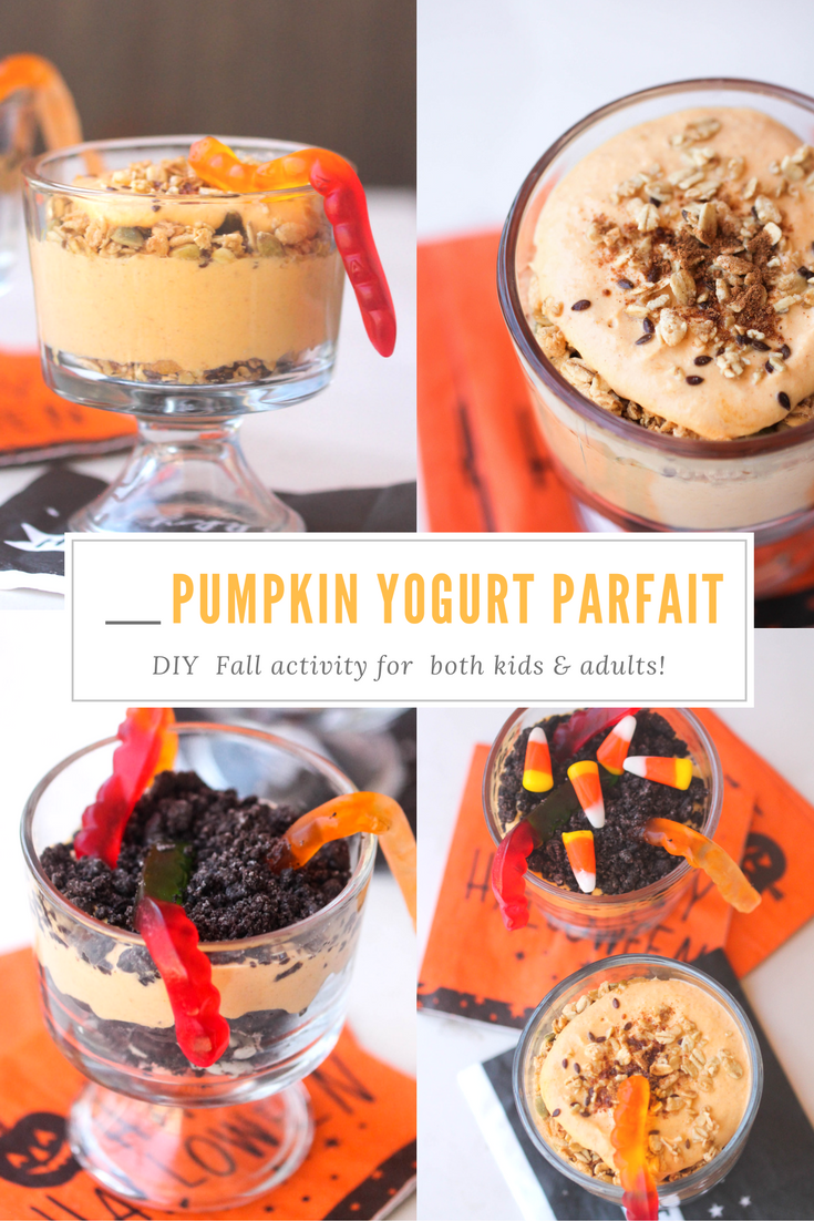 Pumpkin Yogurt Parfait is a Fall inspired parfait which can be used for breakfast, snack or even dessert!