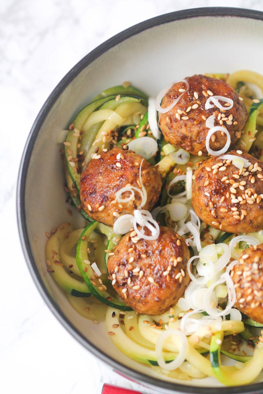 Easy Thai Chicken Meatballs